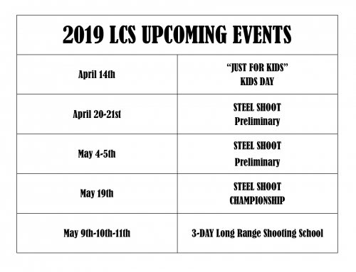 2019 Upcoming Spring & Summer Events!